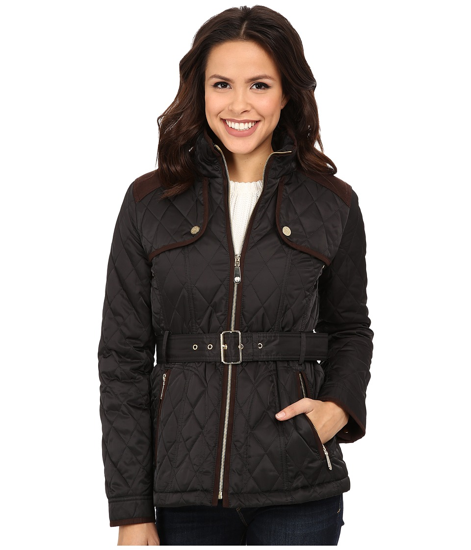 Vince Camuto - Belted Quilted Jacket J1611 (Black) Women's Coat