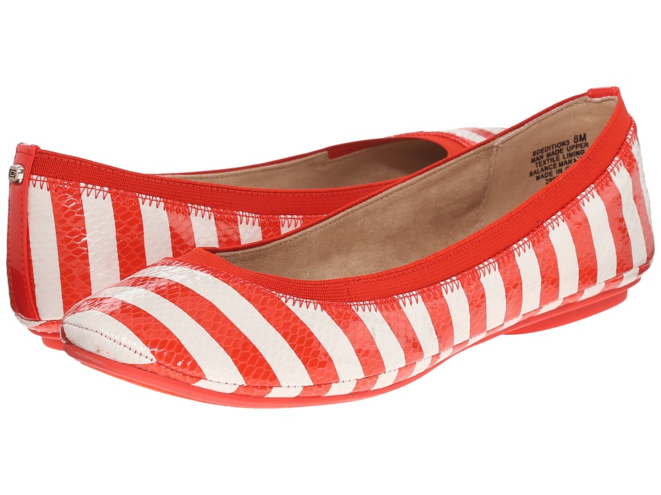 Image of Bandolino - Edition (Red/Off-White Multi Synthetic) Women's Flat Shoes