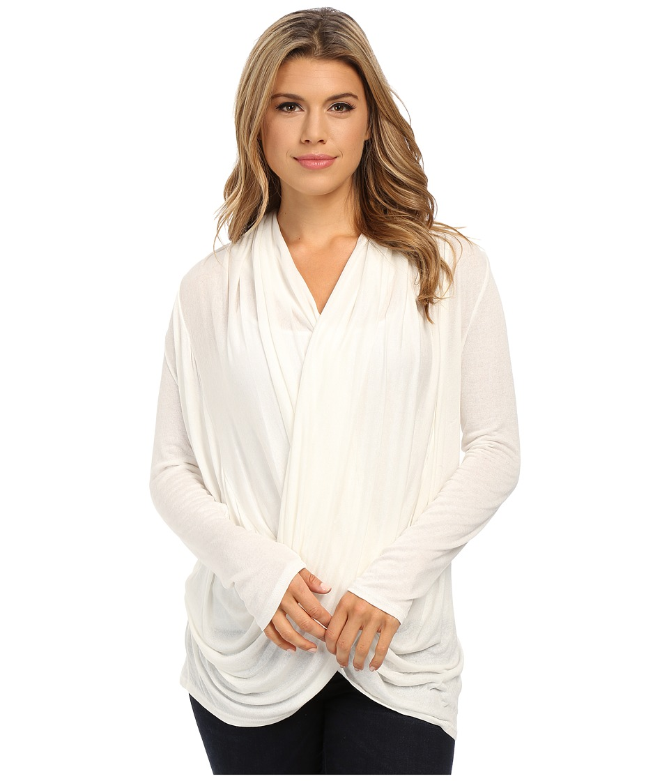 Culture Phit - Cowl Neck Long Sleeve Top (White) Women