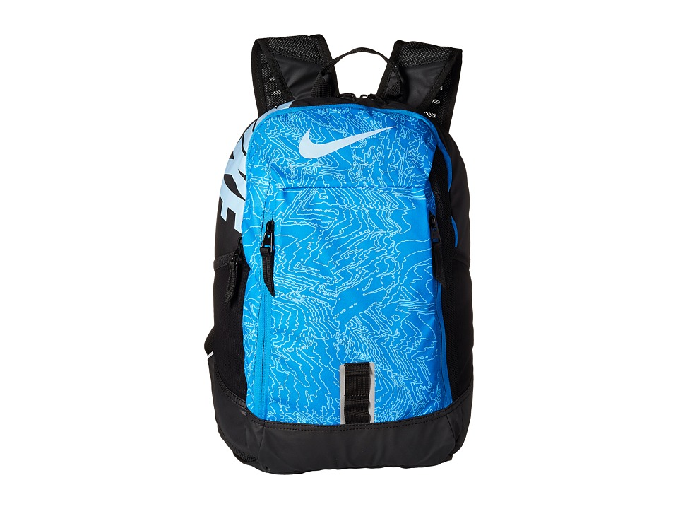 Nike - Young Athletes Alpha ADPT Rise Print Backpack (Photo Blue/Black/Bluecap) Backpack Bags