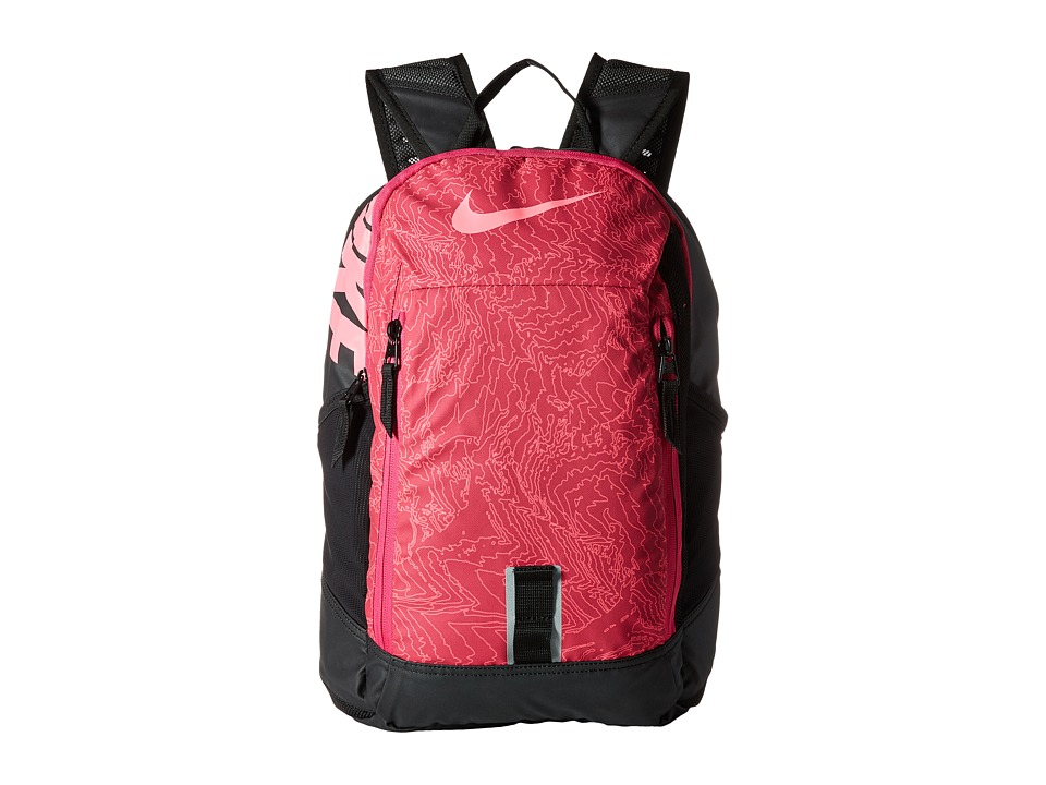 Nike - Young Athletes Alpha ADPT Rise Print Backpack (Vivid Pink/Black/Digital Pink) Backpack Bags