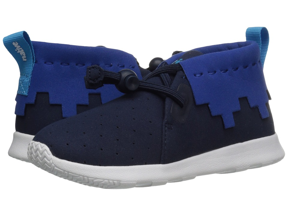 Native Kids Shoes - Apollo Mid (Toddler/Little Kid) (Regatta Blue /Victoria Blue/Shell White) Kid's Shoes