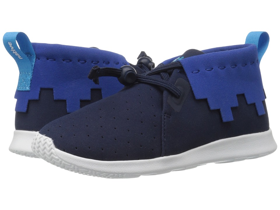 Native Kids Shoes - Apollo Mid (Little Kid) (Regatta Blue /Victoria Blue/Shell White) Kid's Shoes