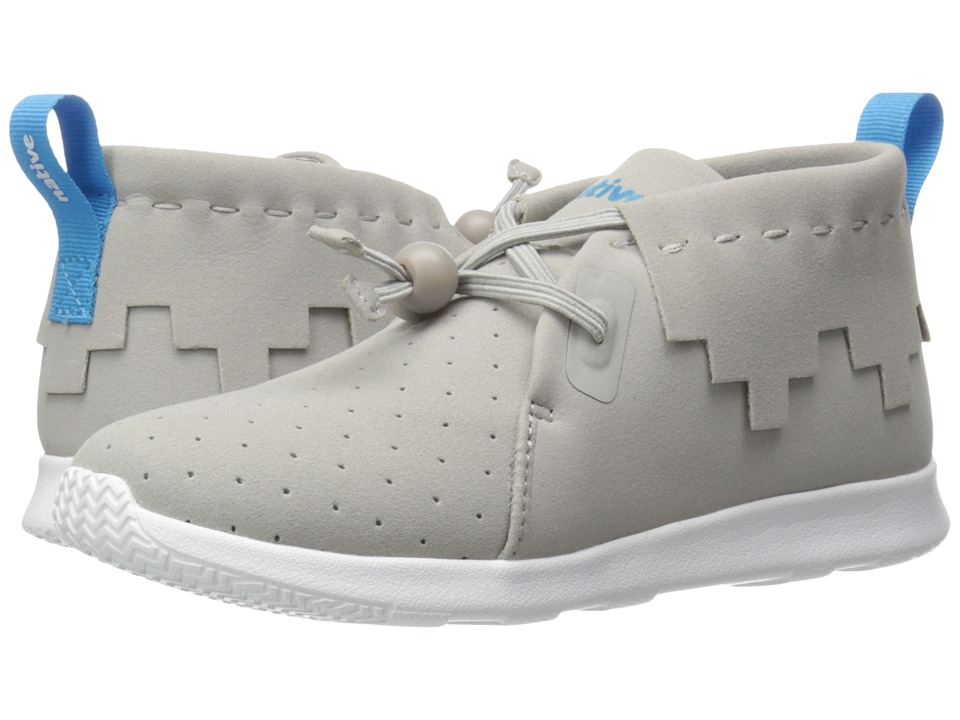 Native Kids Shoes - Apollo Mid (Little Kid) (Pigeon Grey/Pigeon Grey/Shell White) Kid's Shoes