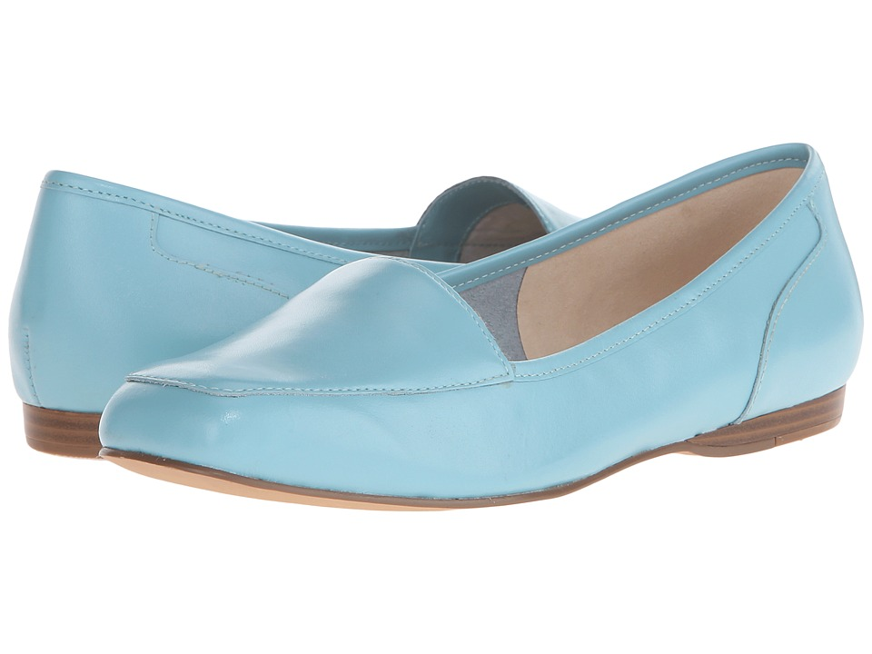 Bandolino - Liberty (Caribbean Blue Leather) Women's Slip on Shoes