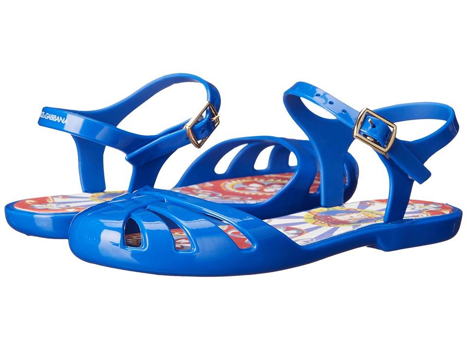 Dolce & Gabbana Kids - Beach Sandal (Little Kid/Big Kid) (Blue) Kids Shoes