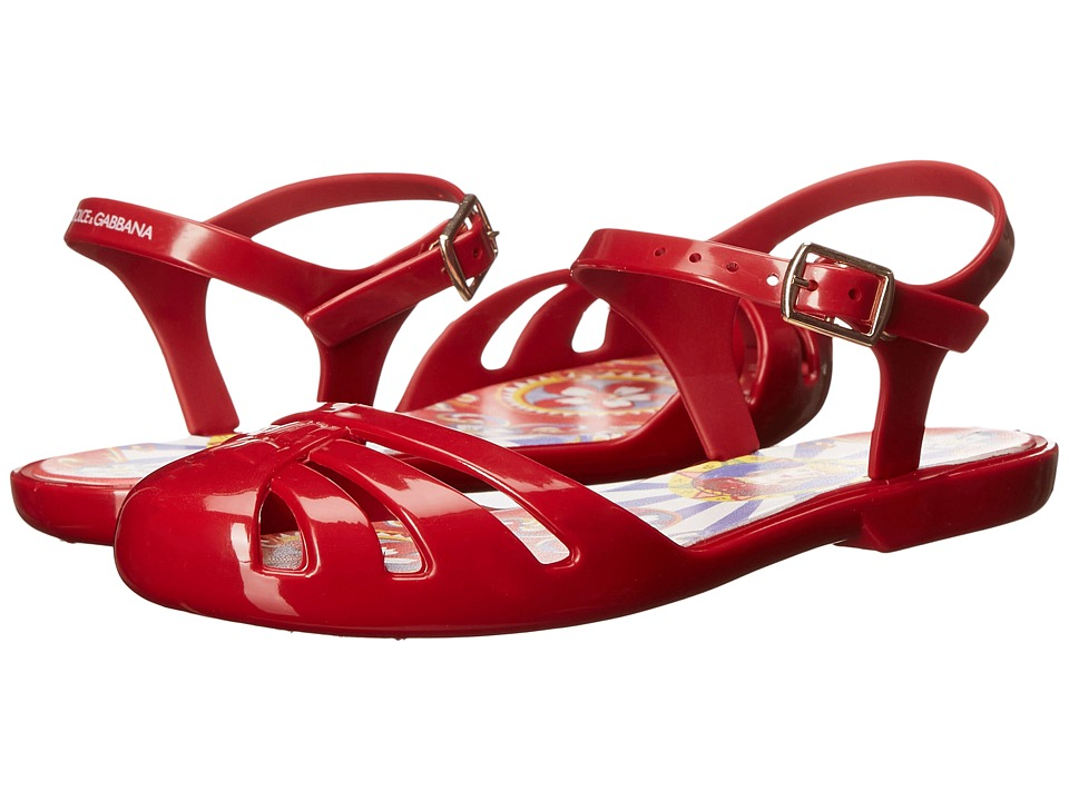 Dolce & Gabbana Kids - Beach Sandal (Little Kid/Big Kid) (Red) Kids Shoes