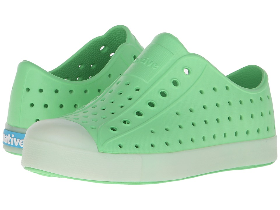 Native Kids Shoes - Jefferson (Little Kid) (Mescal Green/Glow Rand) Kids Shoes