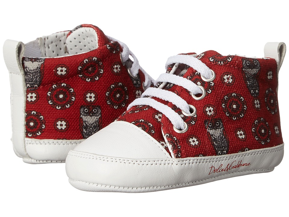 Dolce & Gabbana Kids - Printed Sneaker (Infant/Toddler) (Red) Boy's Shoes