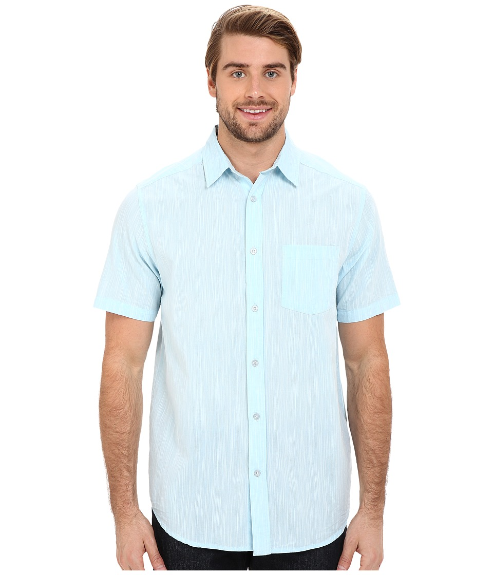 Body Glove - Staples Shirt (Ice Blue) Men's Short Sleeve Button Up