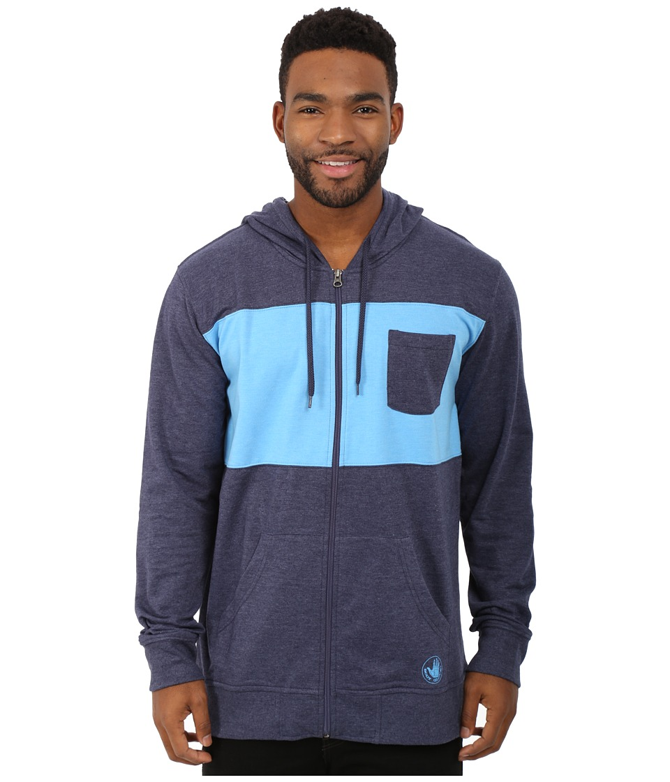 Body Glove - Zupper Nice Hoodie (Indigo Heather) Men's Sweatshirt