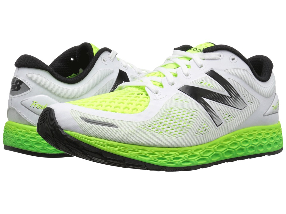 New Balance - Fresh Foam Zante V2 (White/Toxic) Men's Running Shoes