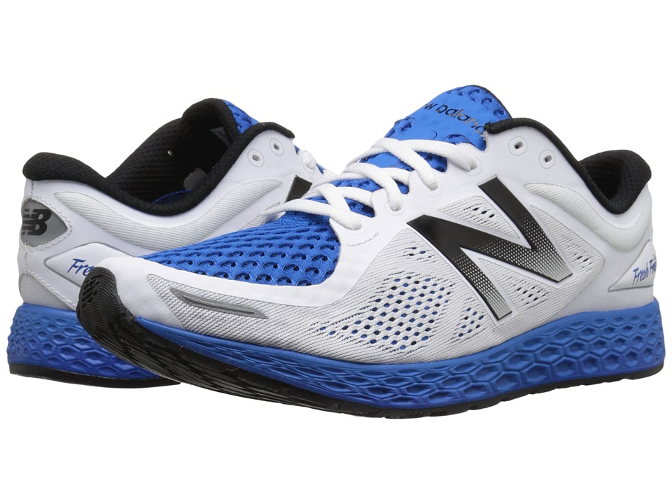 New Balance - Fresh Foam Zante V2 (White/Pacific) Men's Running Shoes