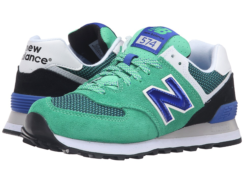 New Balance Classics - WL574v1 (Spring Green/Pacific) Women's Running Shoes