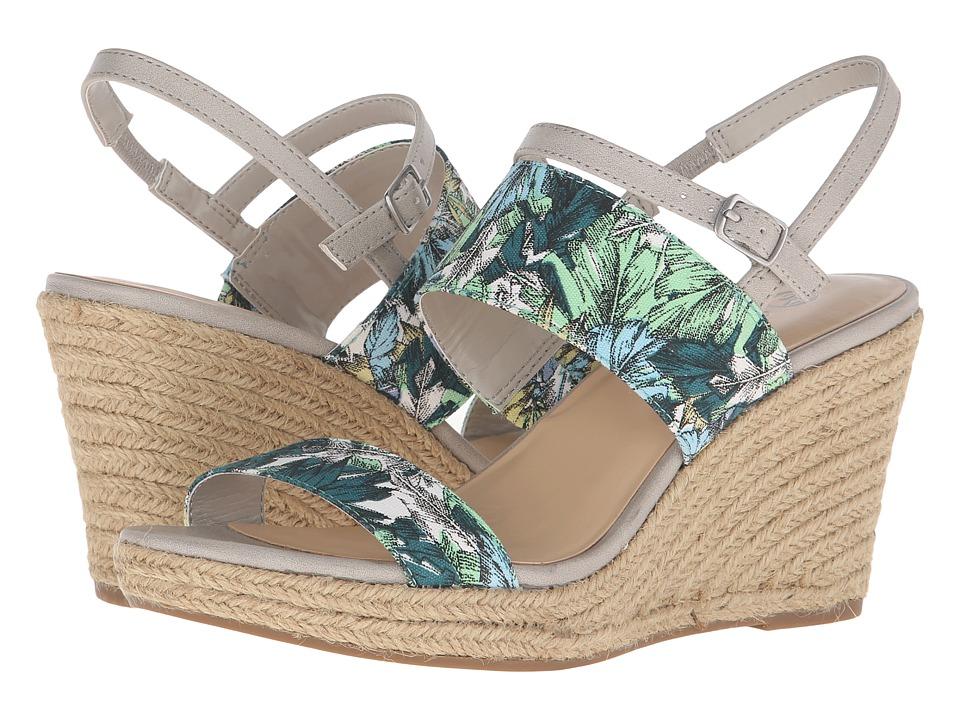 Bella-Vita - Grayson (Blue/Green Leaf) Women's Wedge Shoes