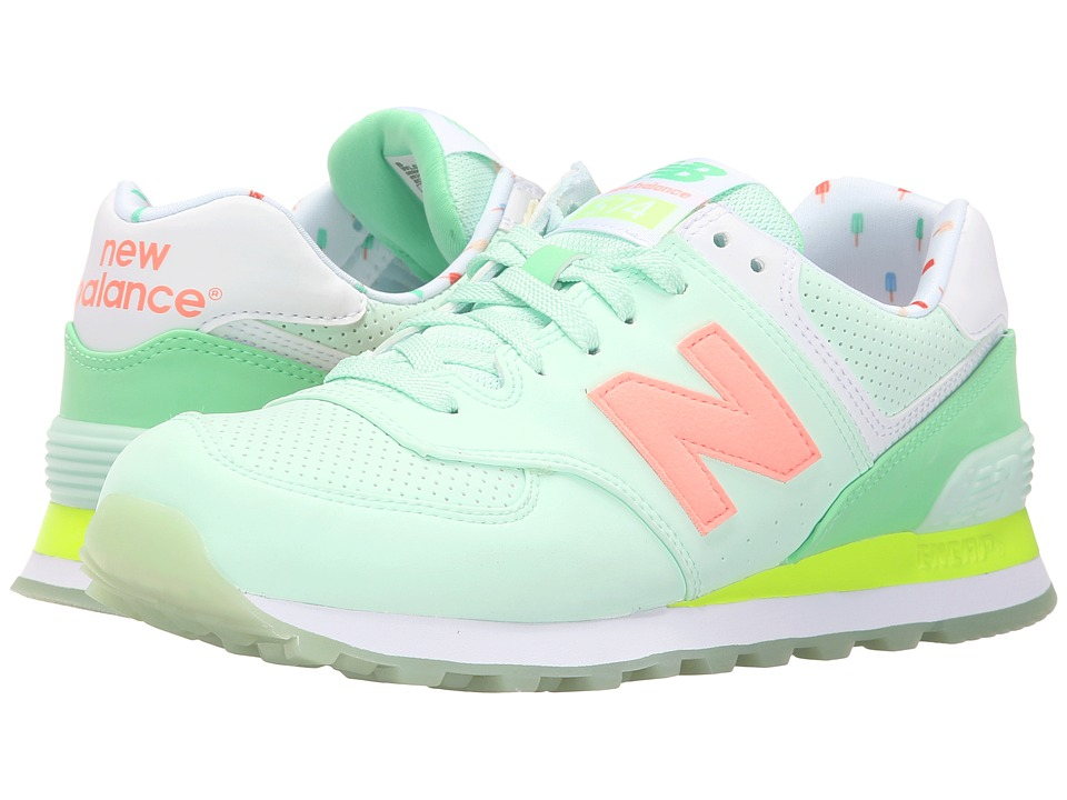 New Balance Classics - WL574v1 (Seafoam/Summer Green) Women's Running Shoes