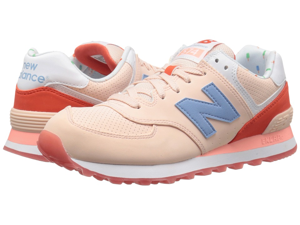 New Balance Classics - WL574v1 (Shell Pink/Coral Glow) Women's Running Shoes