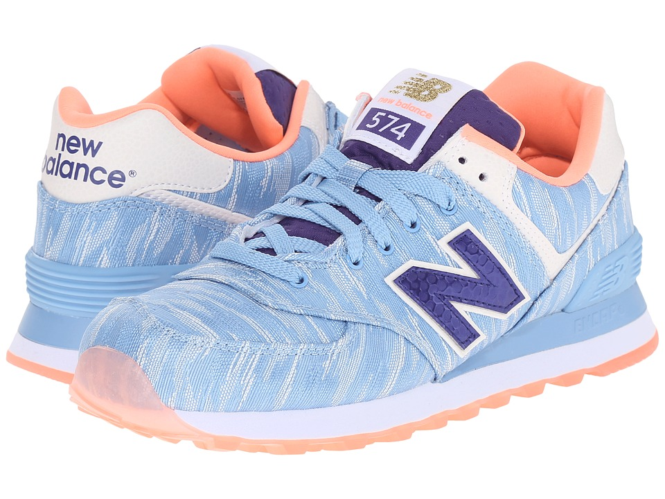 New Balance Classics - WL574v1 (Cornflower/Laza Rite) Women's Running Shoes