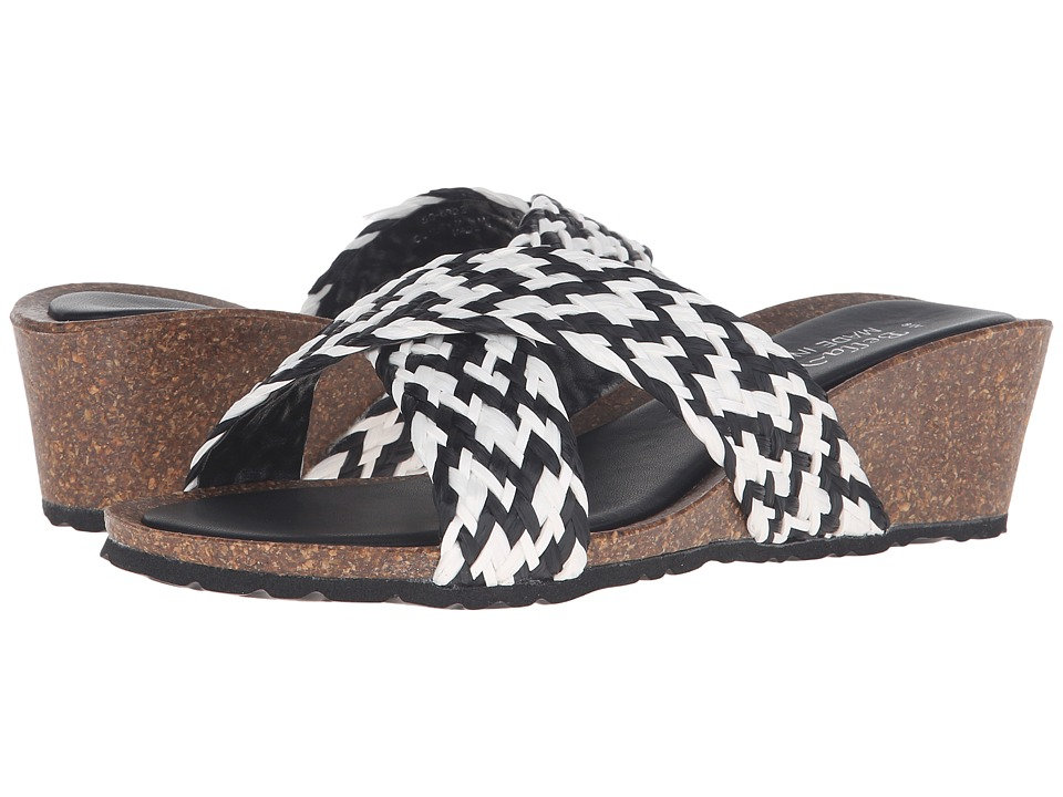 Bella-Vita - Pavia (Black/White) Women's Sandals