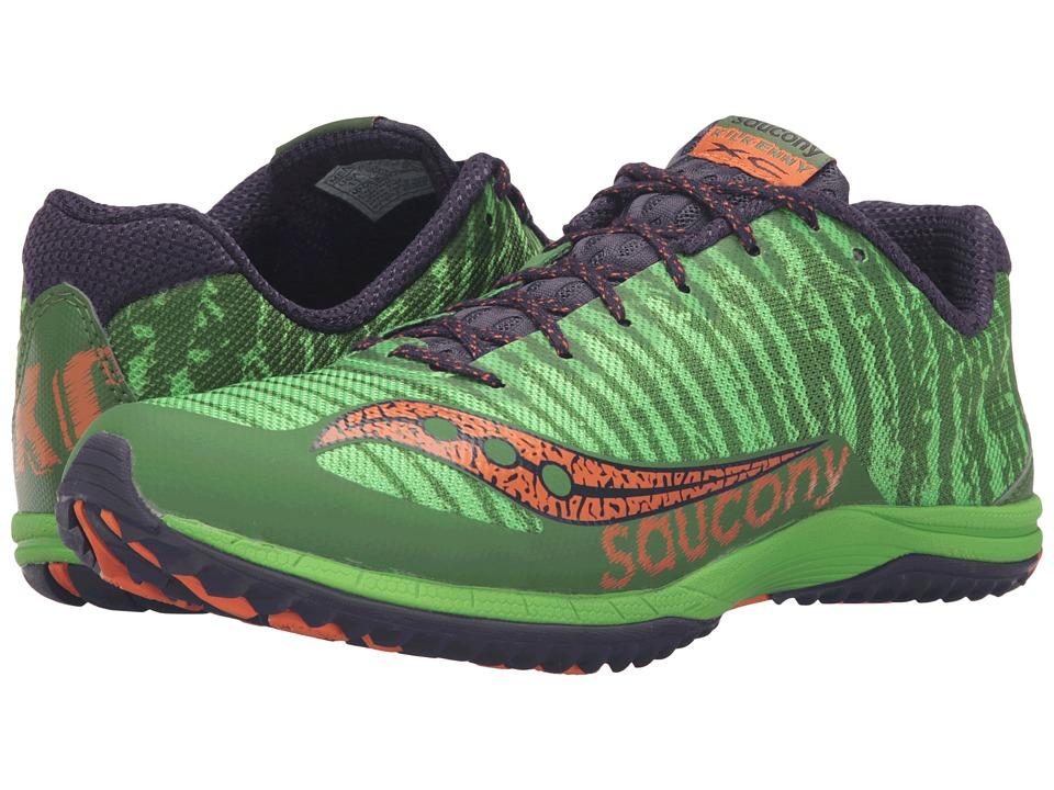 Saucony - Kilkenny XC Flat (Green/Orange) Men's Track Shoes