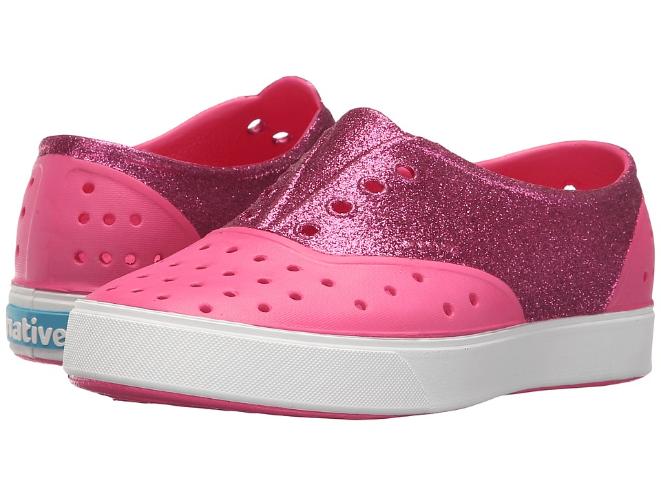 Native Kids Shoes - Miller Glitter (Little Kid) (Hollywood Pink/Shell White/Hollywood Glitter) Girl's Shoes
