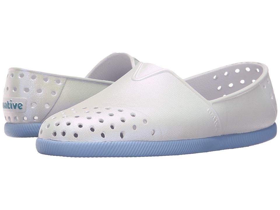 Native Kids Shoes - Verona (Little Kid) (Shell White/Jellyfish Purple/ Iridescent) Kid's Shoes