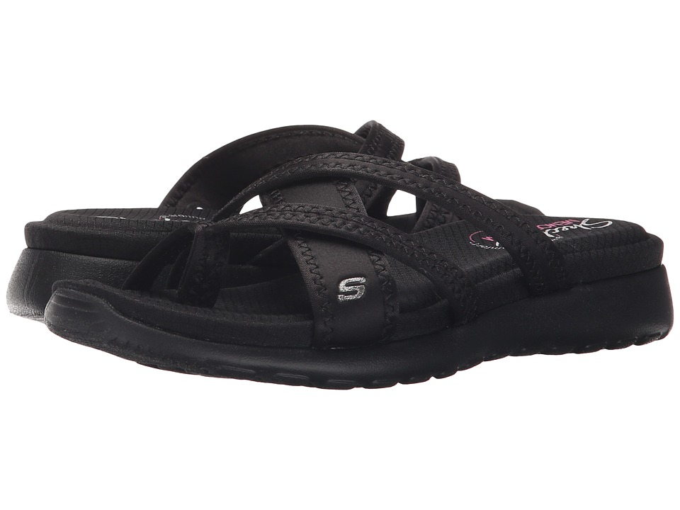 SKECHERS - Cali - Breeze Low - Bright Star (Black/Black) Women's Sandals