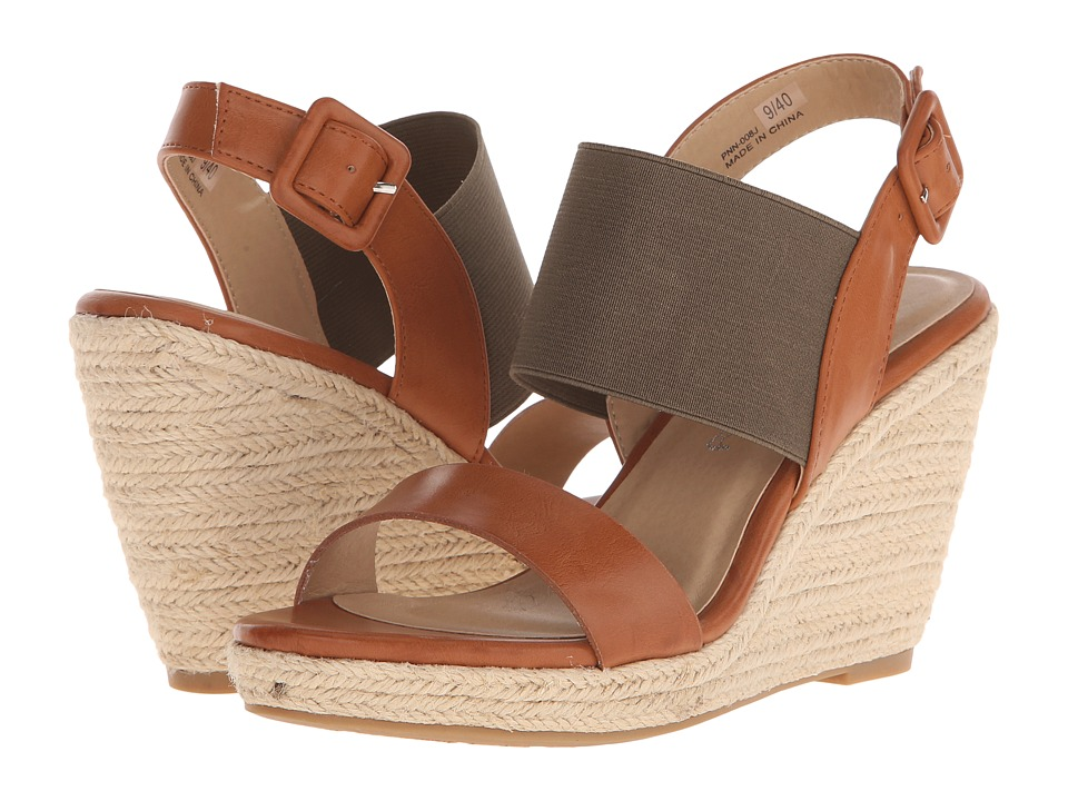Dirty Laundry - DL On Point (Cognac/Olive) Women's Wedge Shoes