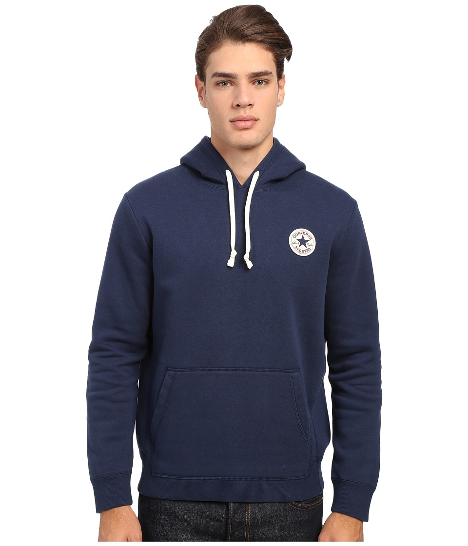 Converse - Core Pullover Fleece Hoodie (Nighttime Navy) Men's Sweatshirt
