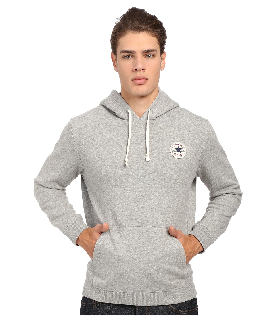 Converse - Core Pullover Fleece Hoodie (Vintage Grey Heather) Men's Sweatshirt