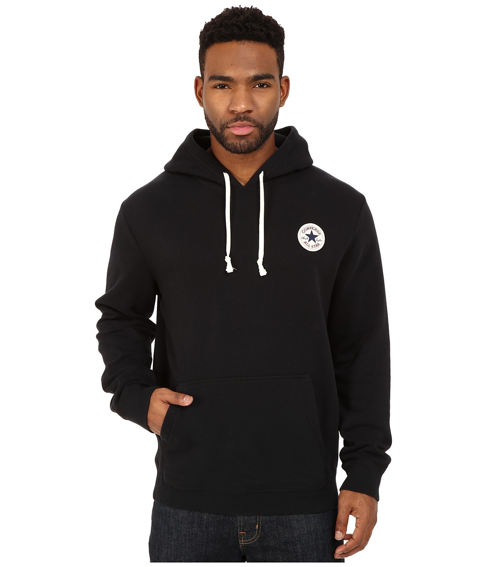Converse - Core Pullover Fleece Hoodie (Black) Men's Sweatshirt