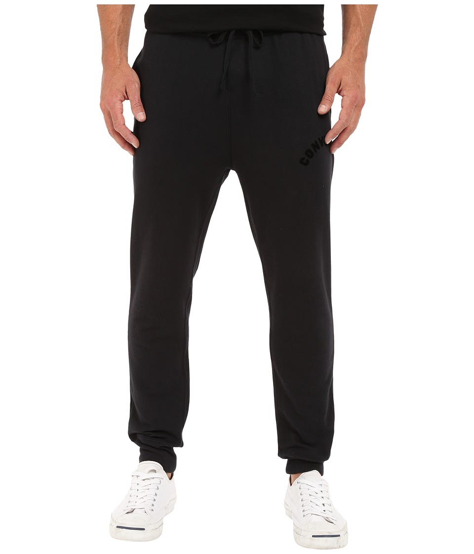 Converse - Rib Bottom Fleece Pants (Black) Men's Casual Pants