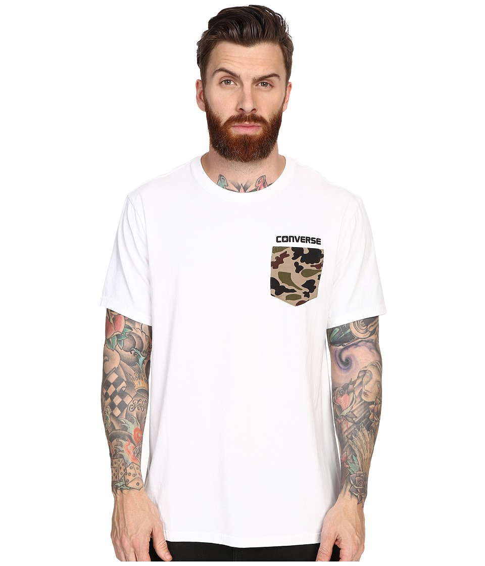 Converse - Short Sleeve Camo Pocket Tee (White) Men's Short Sleeve Pullover