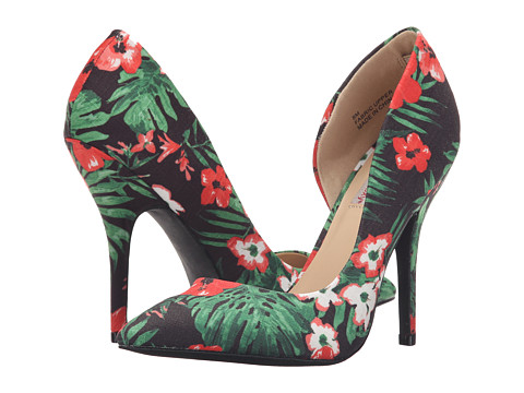 DOLCE by Mojo Moxy - Tanya (Black Floral) High Heels