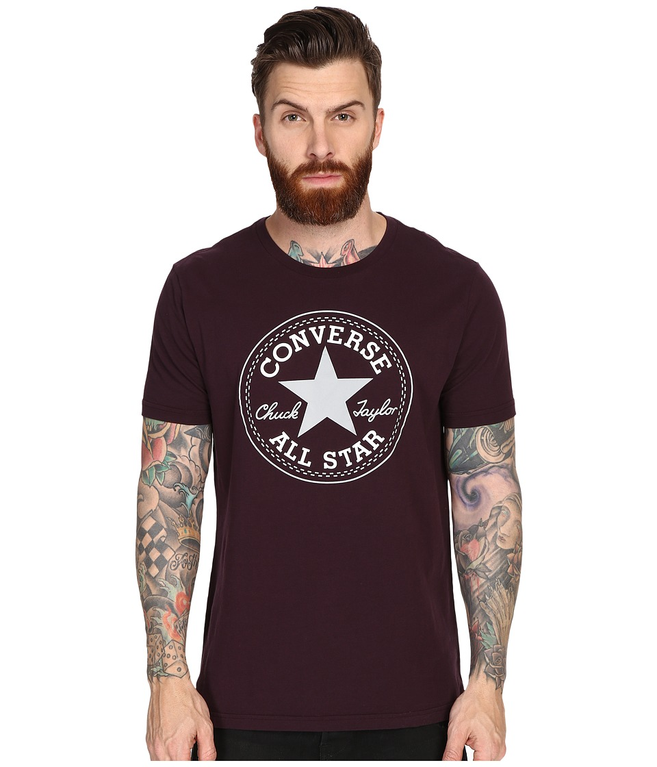 Converse - Core CP Crew Tee (Black Cherry) Men's T Shirt