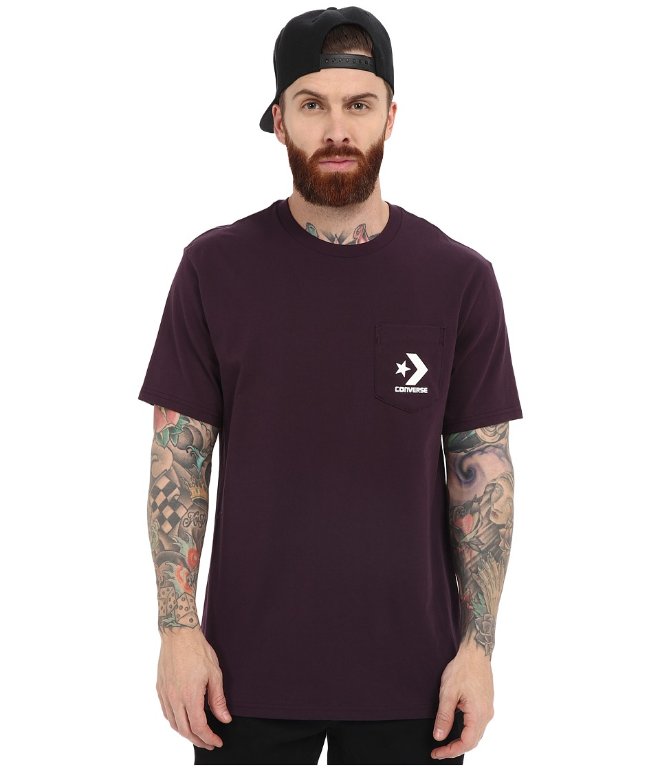 Converse - Cons Pocket Tee (Black Cherry) Men's Short Sleeve Pullover