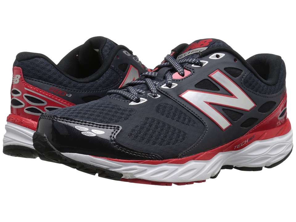 New Balance - M680v3 (Outer Space/Chinese Red) Men's Running Shoes