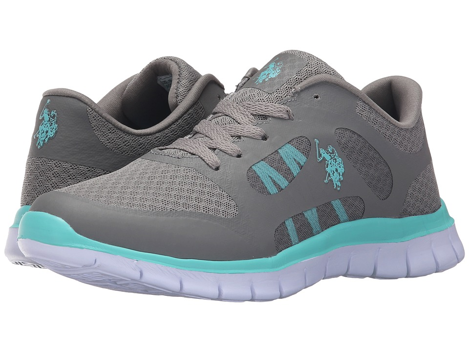 U.S. POLO ASSN. - Beth (Grey/Turquoise/White) Women's Shoes