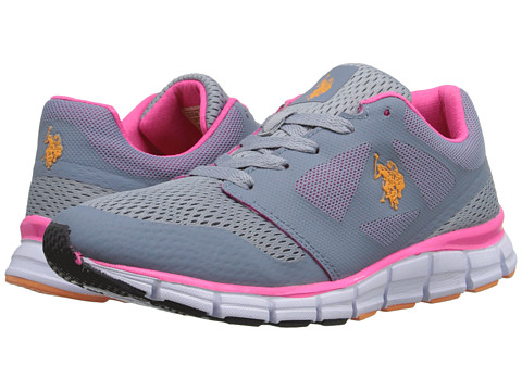 U.S. POLO ASSN. - Cathy (Grey/Hot Pink/Orange) Women's Shoes