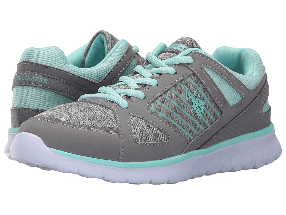 U.S. POLO ASSN. - Charla (Grey Jersey/Mint) Women's Shoes