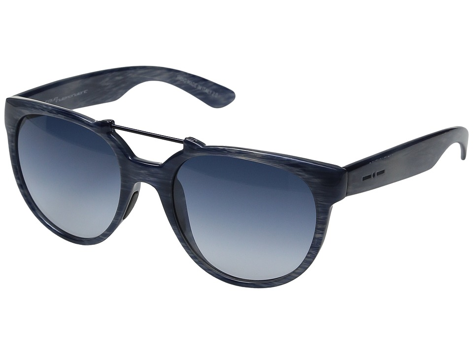 Italia Independent - 916 (Brush Glossy Blue) Fashion Sunglasses