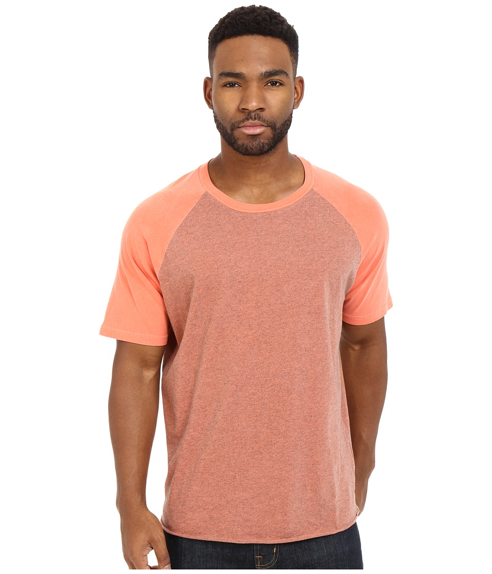 Converse - Overdyed Short Sleeve Baseball Hem Tee (My Van is on Fire) Men's T Shirt