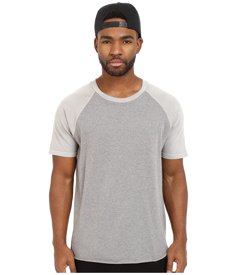 Converse - Overdyed Short Sleeve Baseball Hem Tee (Dolphin) Men's T Shirt