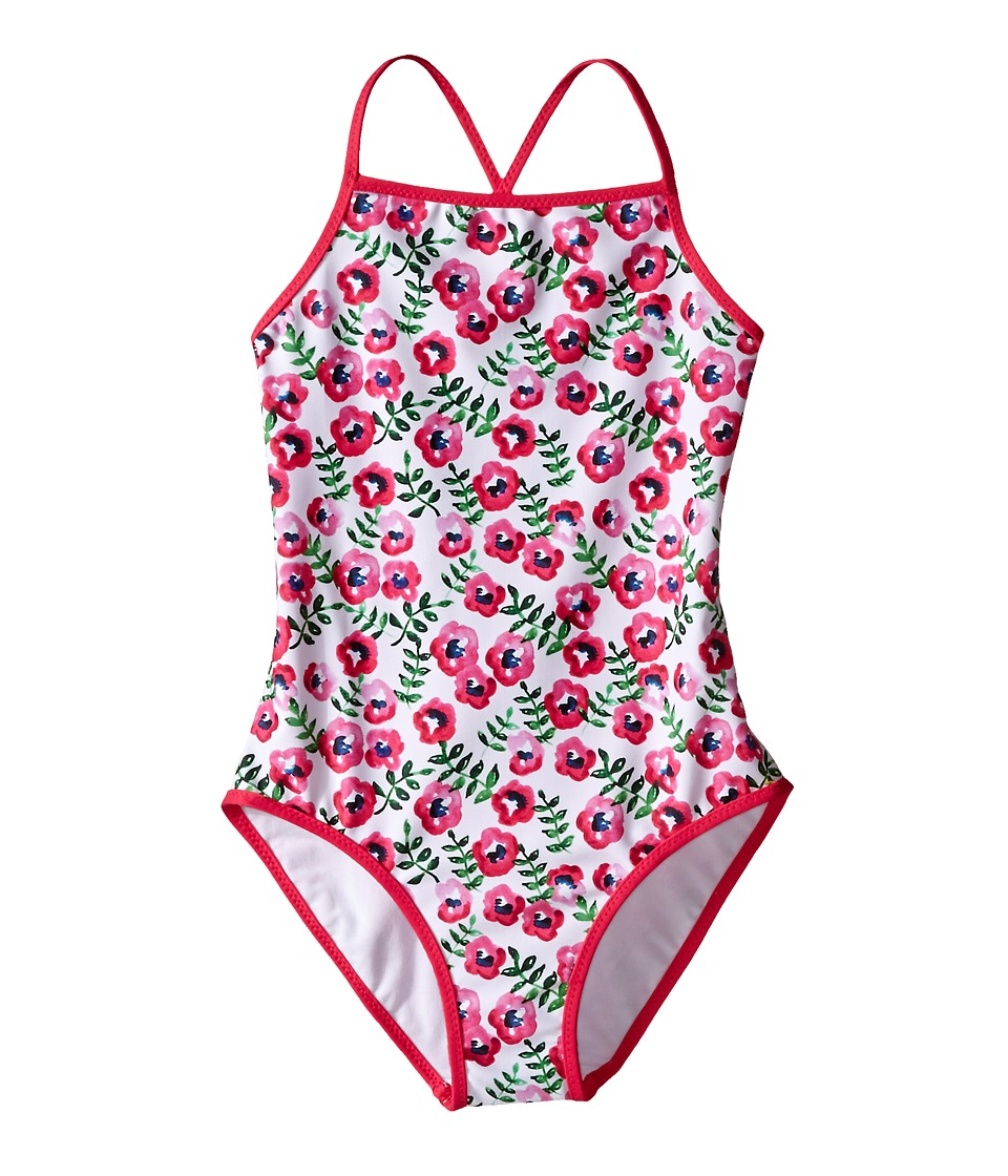 Oscar de la Renta Childrenswear - Spring Pansies Classic Swimsuit (Toddler/Little Kids/Big Kids) (Shocking Pink) Girl's Swimsuits One Piece