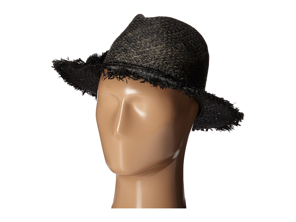 Echo Design - Frayed Casablanca Hat (Black) Dress Hats