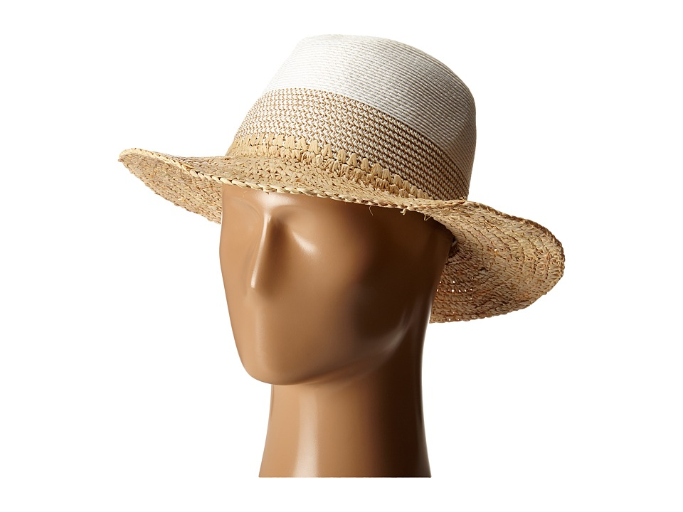 Echo Design - Colorblock Fedora Hat (White) Dress Hats