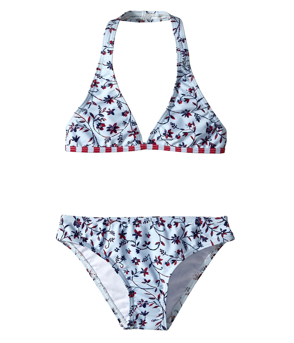 Oscar de la Renta Childrenswear - Floral Ikat Classic Bikini (Toddler/Little Kids/Big Kids) (Sky) Girl's Swimsuits One Piece