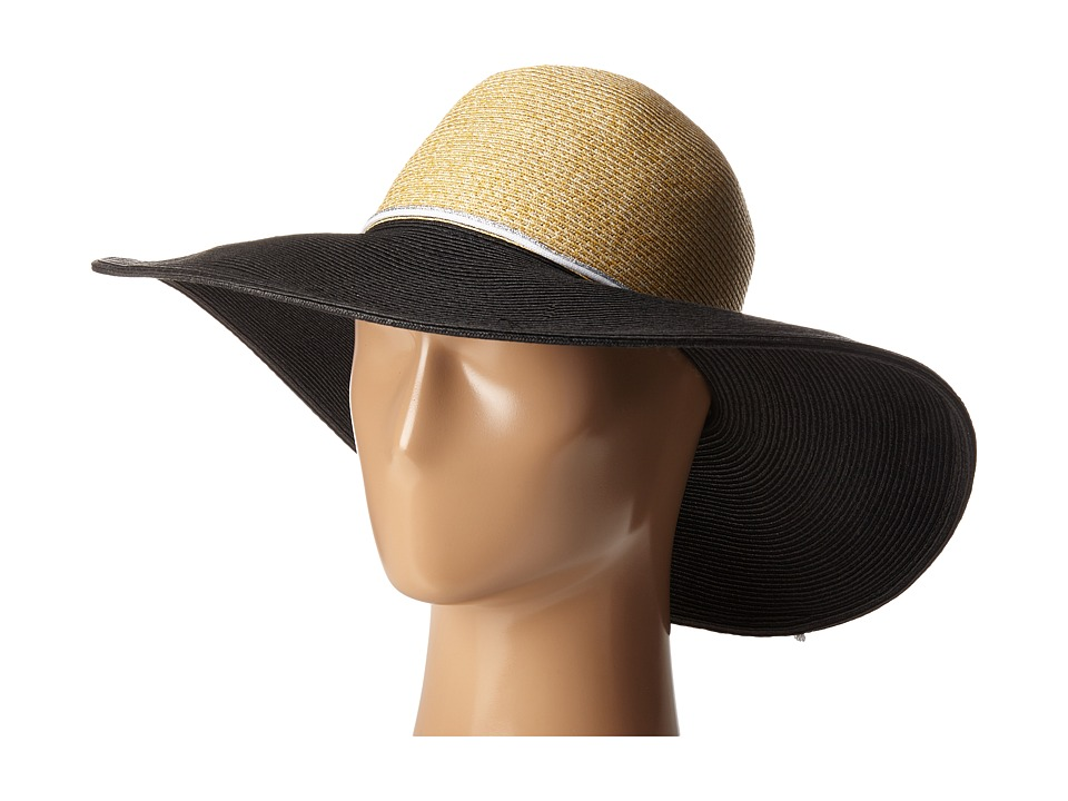 Echo Design - Bi-Color Floppy Hat (Black) Dress Hats