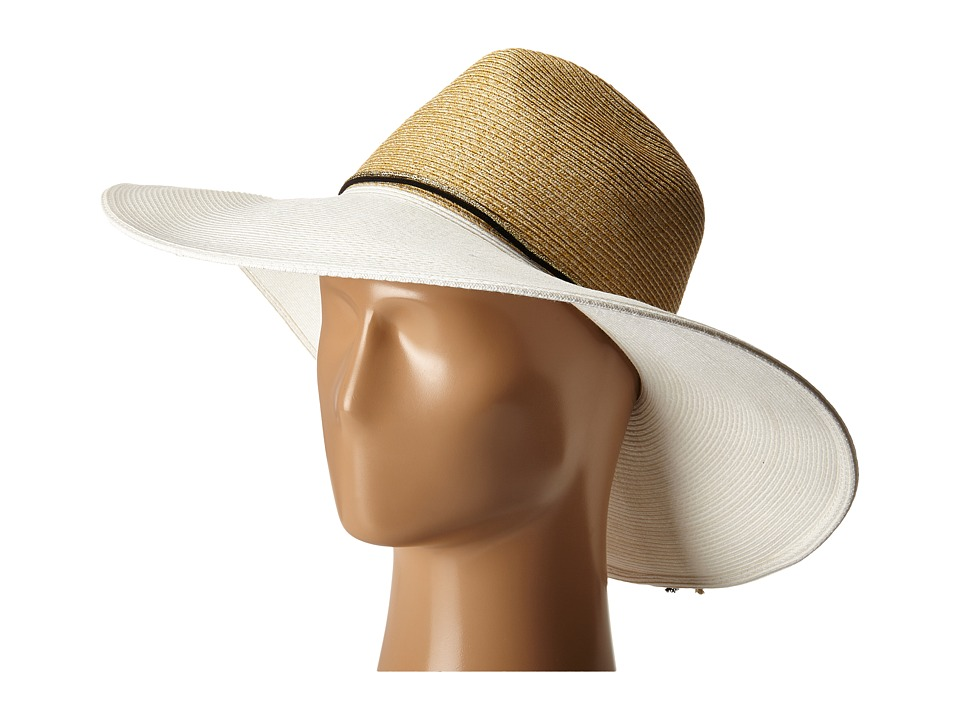 Echo Design - Bi-Color Floppy Hat (White) Dress Hats