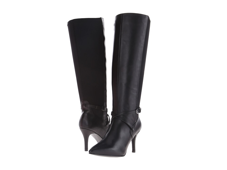 Nine West - SoSheek (Black/Black Leather) Women
